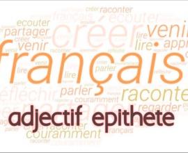 adjectif épithète cours