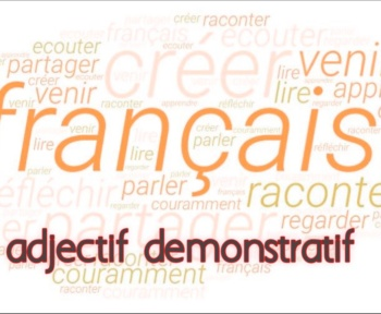 Adjectif démonstratif cours
