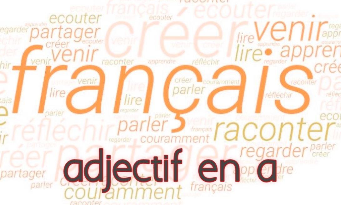 adjectifs en a francais