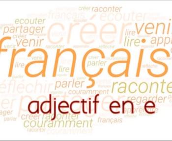 adjectifs en e