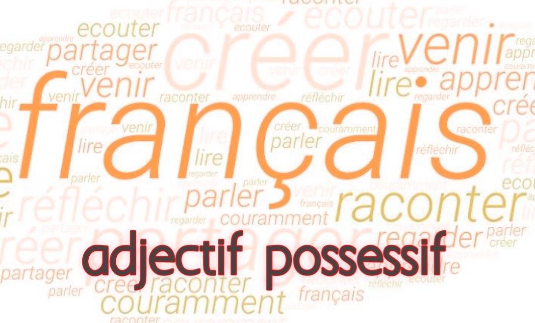 adjectif possessif exemples