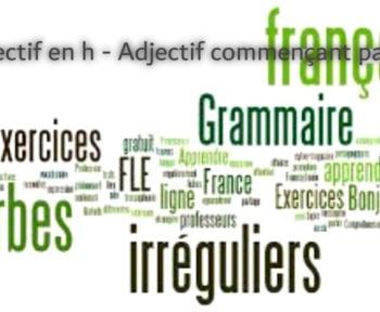 Adjectif en h - Adjectif commençant par h