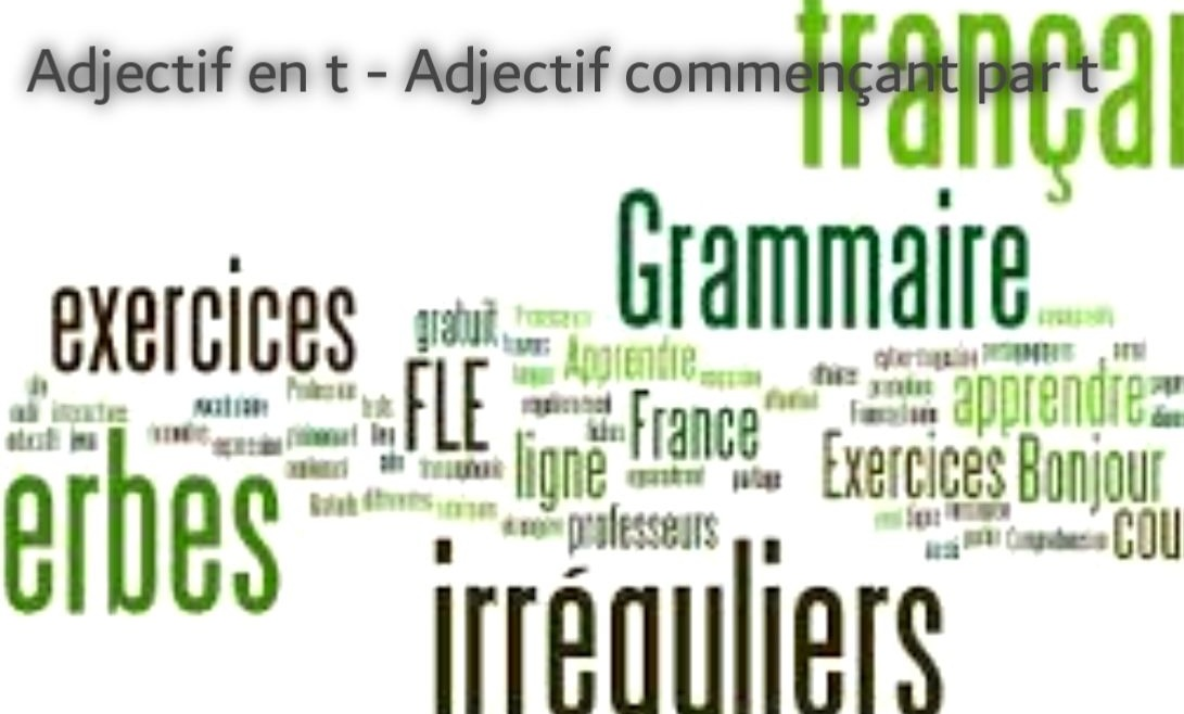 Adjectif en t - Adjectif commençant par t