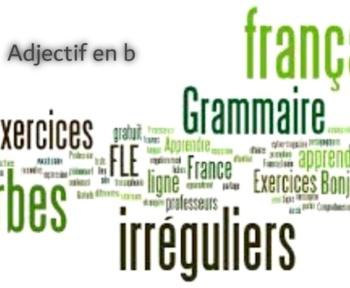 Adjectif en b – Adjectif commençant par b