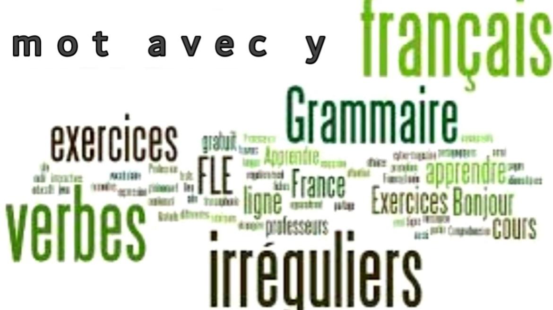 Mot avec y plus utlisé en français