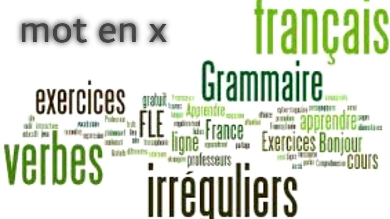 mot commençant par x