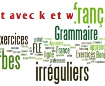 Mot avec k et w – plus utilisé en français