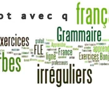 Mot avec q plus utilisé en français