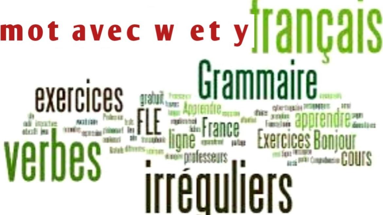 Mot avec w et y en français